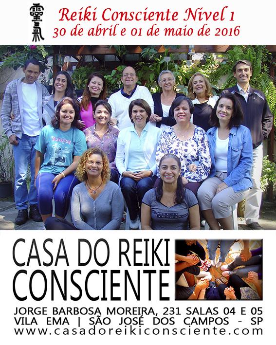 Turma Reiki Consciente Nivel 1 - abr-mai 2016
