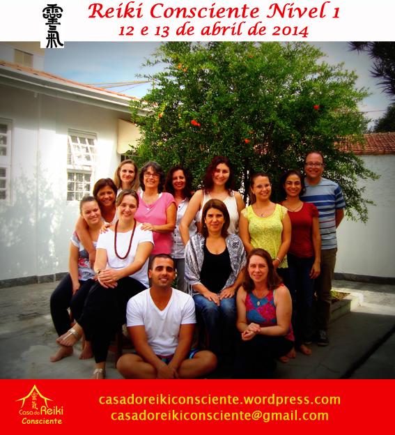 Turma Reiki Consciente Nivel 1-abr2014