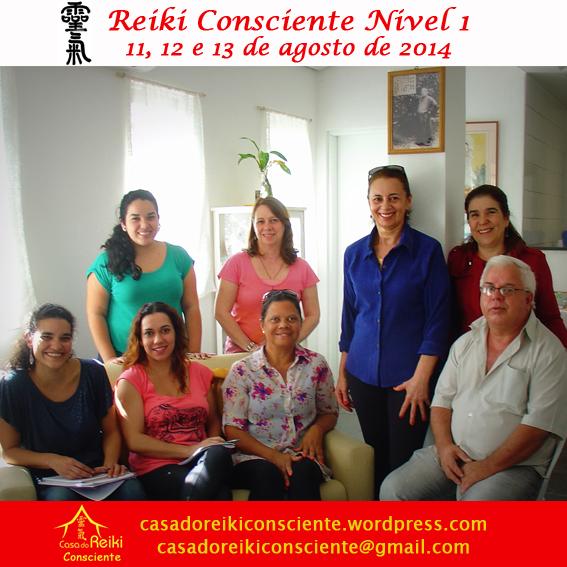 Turma Reiki Consciente Nivel 1 -ago2014