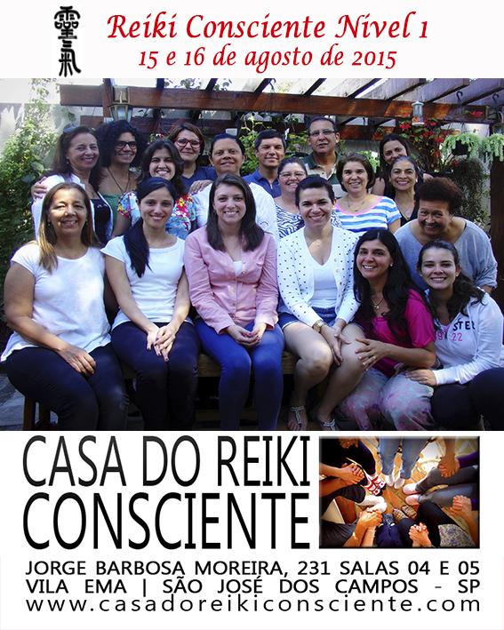 Turma Reiki Consciente Nivel 1 - agosto 2015