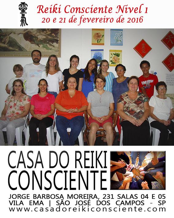 Turma Reiki Consciente Nivel 1 - fevereiro 2016