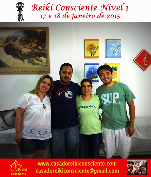 Turma Reiki Consciente Nivel 1 - jan 2015