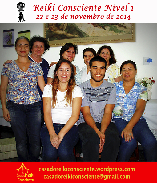 Turma Reiki Consciente Nivel 1 - nov 2014