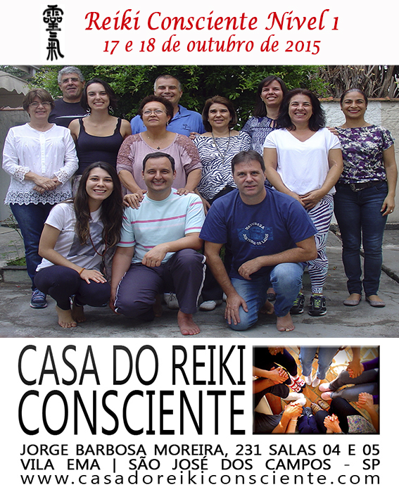 Turma Reiki Consciente Nivel 1 - outubro 2015