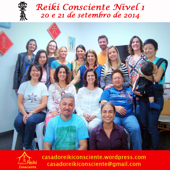 Turma Reiki Consciente Nivel 1 - set 2014