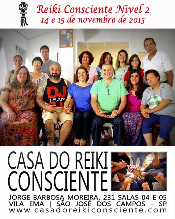 Turma Reiki Consciente Nivel 2 - novembro 2015