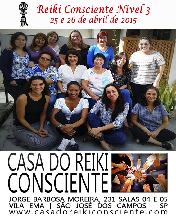 Turma Reiki Consciente Nivel 3- abr 2015