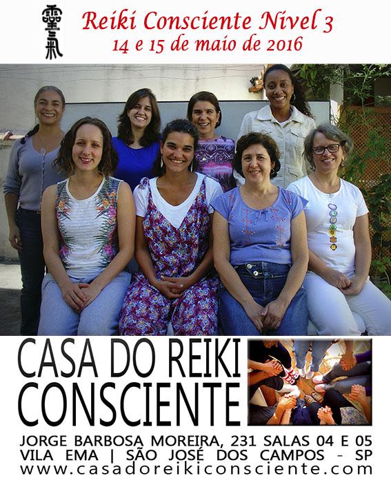 Turma Reiki Consciente Nivel 3-maio 2016