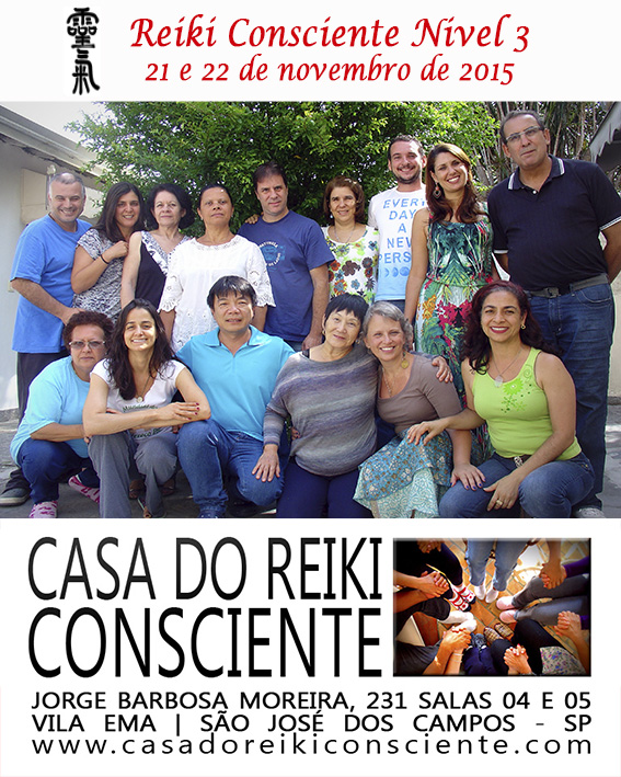 Turma Reiki Consciente Nivel 3 - novembro 2015